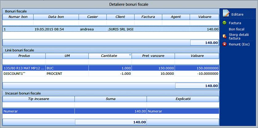 Data bon detaliere bonuri fiscale