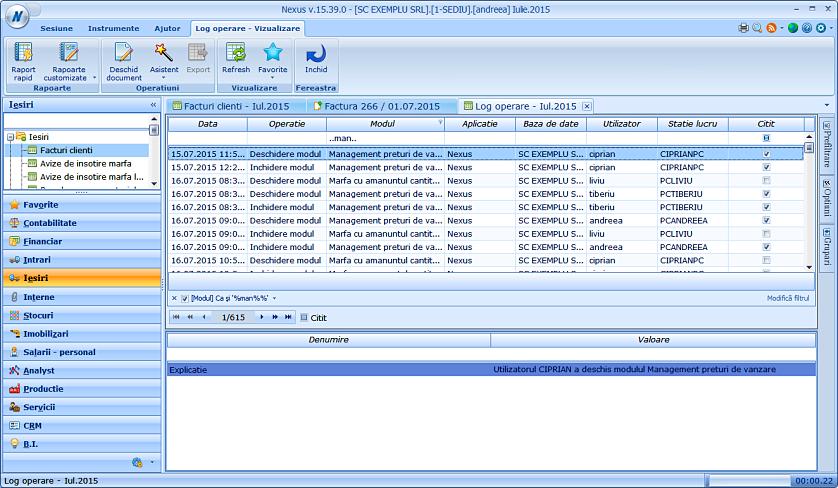 Marcare inregistrari log operare citite 04