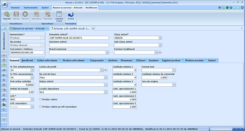 Import locatie nomenclator produse 02
