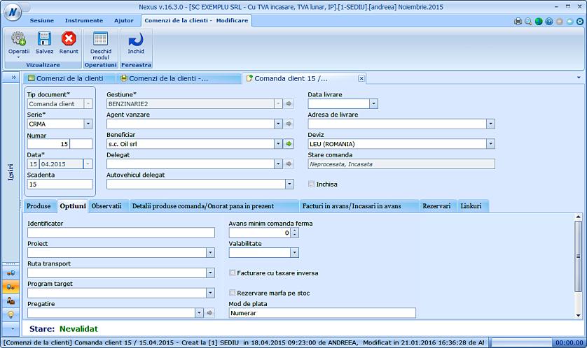 Modalitate de plata formular comanda client 02