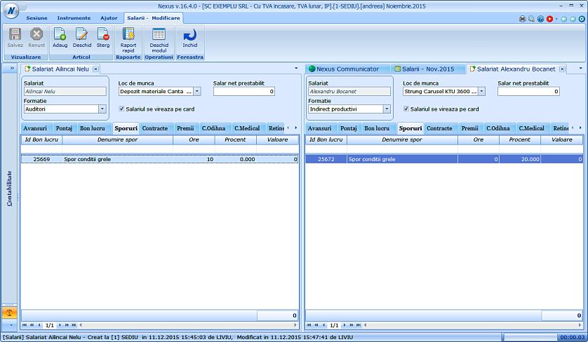 Editare date in format tabelar sporuri 04