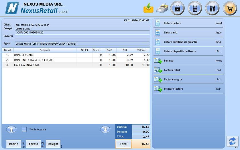 Listare aviz insotire marfa pe baza unui bon fiscal retail 02