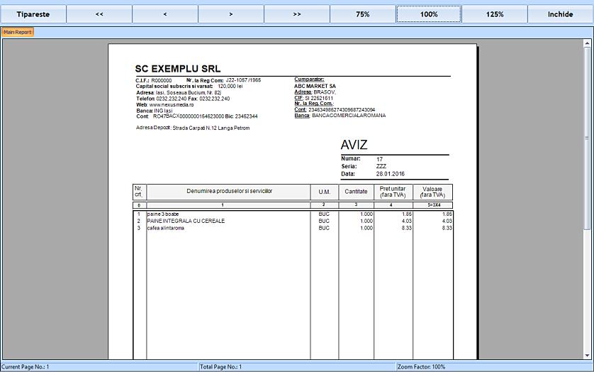Listare aviz insotire marfa pe baza unui bon fiscal retail 03
