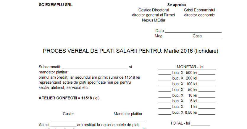 Proces verbal plati salarii 03