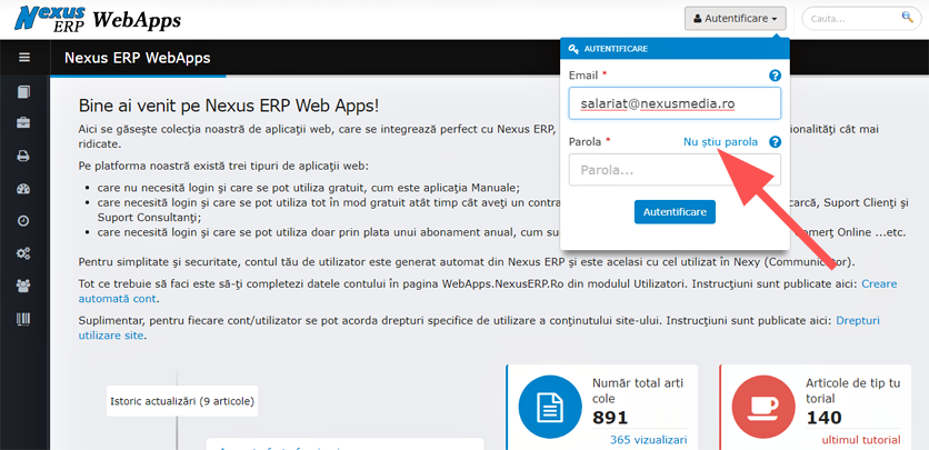utilizatori darte cont suport nexuserp webapps2