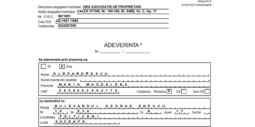 ADEVERINTA STAGIU PENTRU INDEMNIZATIE CRESTERE COPIL 02