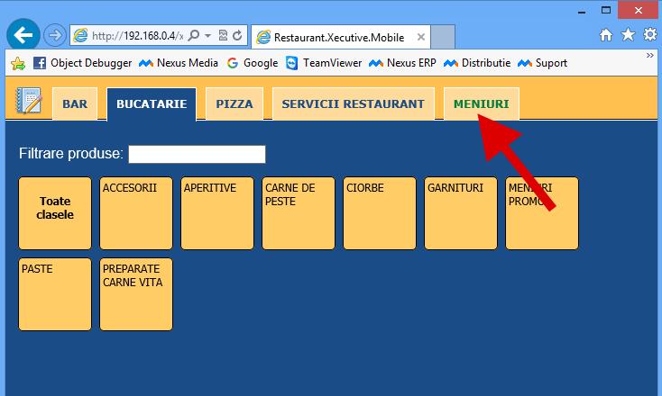 Restaurant mobile adaugare produse tip meniu 1
