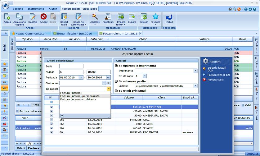 Asistent tiparire facturi personalizate 03