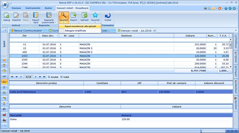 Export monetare pt alte aplicatii filtrare 01