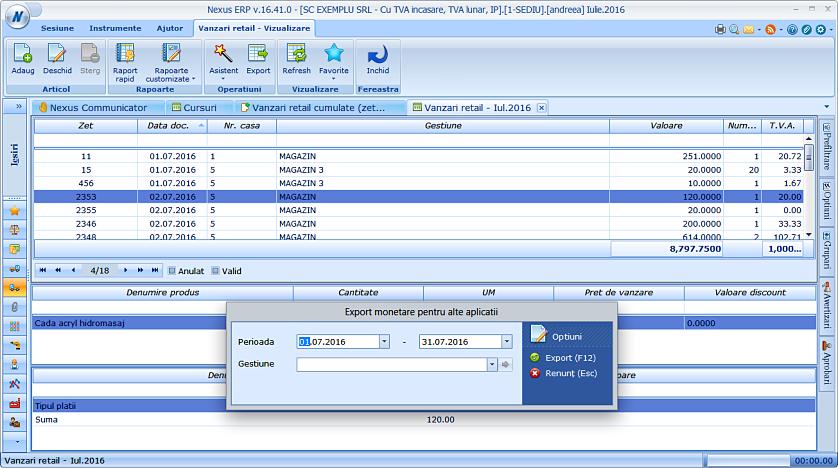 Export monetare pt alte aplicatii filtrare 02