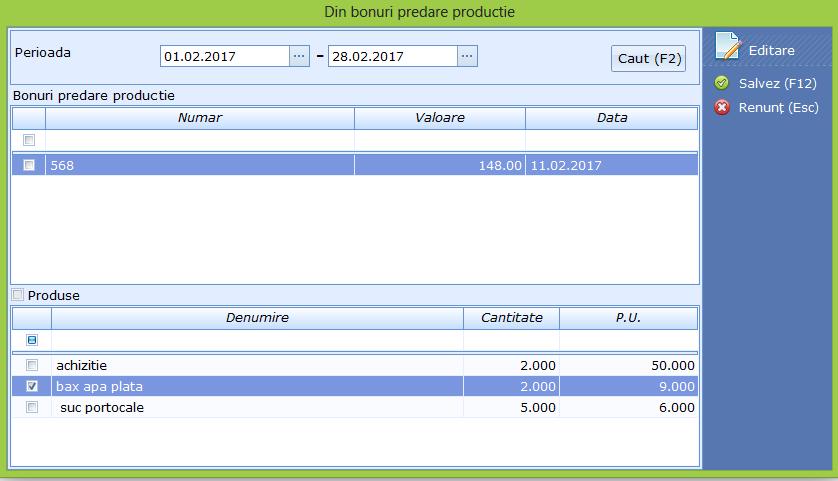 Transfer intre gestiuni Preluare date din Bpp 02