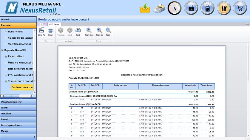 Vizualizare rapoarte Nexus in Retail 02