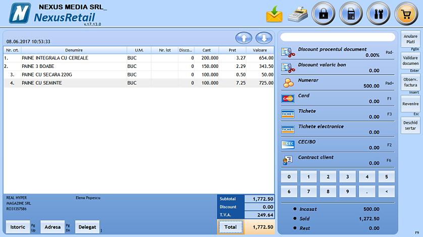 Adaug comanda client in retail 02