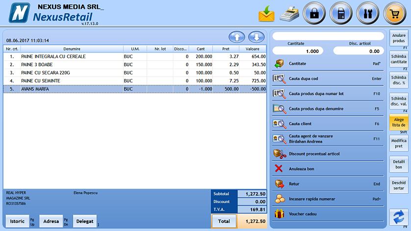 Adaug comanda client in retail 05