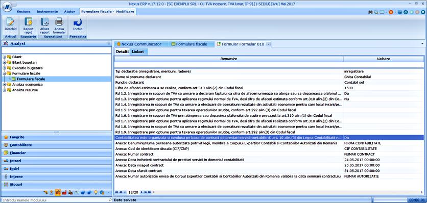 formular 010 contabiliate contract prestari servicii 1