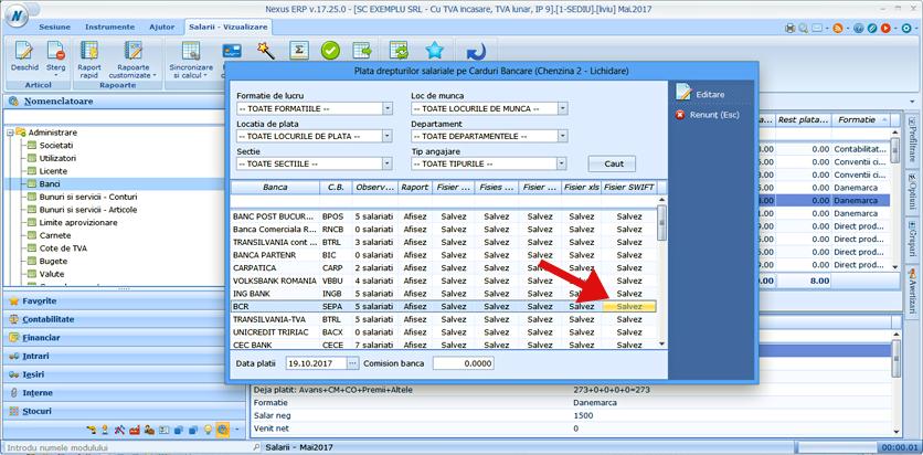 export salarii format SEPA 3