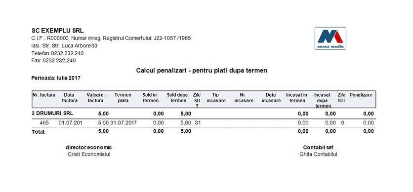 raport calcul penalizari factura curenta 2