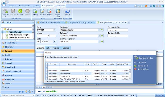 Adaugare simpl PV protocol02