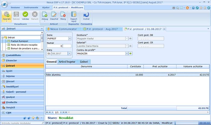 Adaugare simpl PV protocol03
