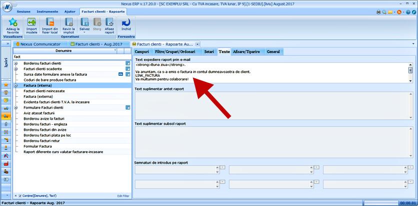 asistent trimitere facturi bloc functionalitate contclient 1