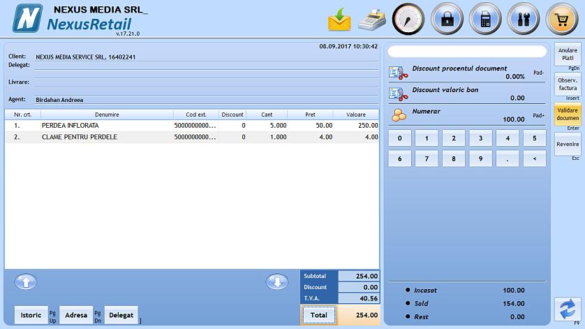 Tiparire comanda client la validare 02
