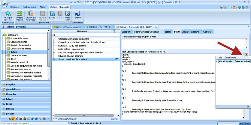 sursa date salarii html model fluturasi 1