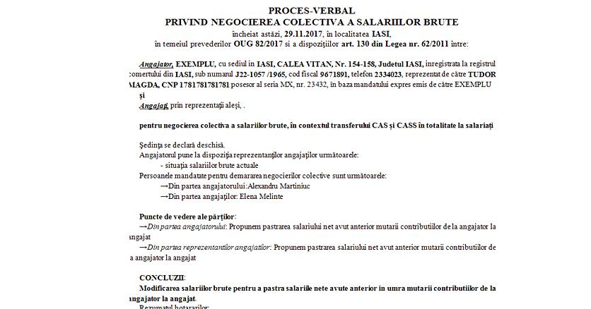 CONTRACT DE MUNCA PROCES VERBAL NEGOCIERE SALARII BRUTE 3