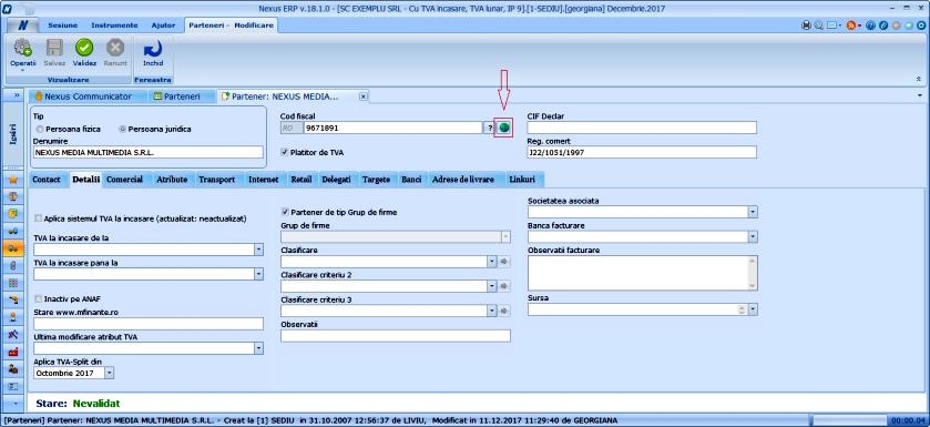 Parteneri RegistruTVAsplit in pagina cu registre de la adaugarea partenerului 01