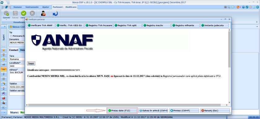 Parteneri RegistruTVAsplit in pagina cu registre de la adaugarea partenerului 03