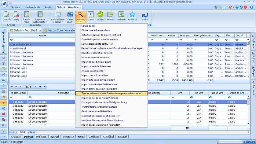 Modificare fereastra trimitere email rapoarte salariati 01