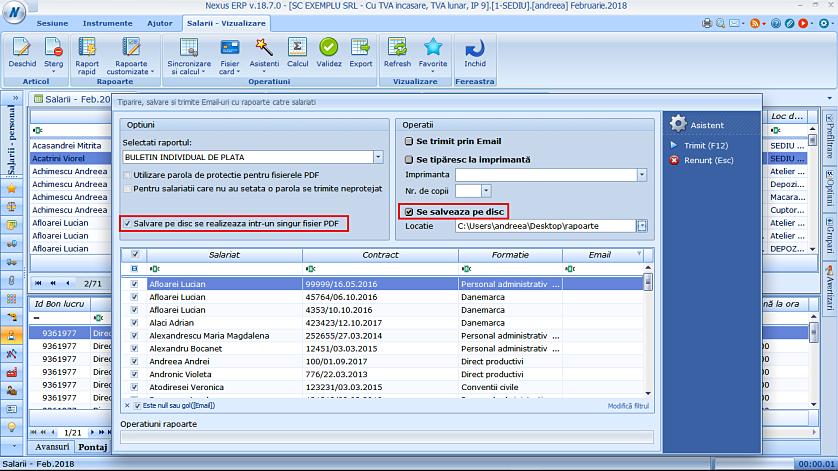 Modificare fereastra trimitere email rapoarte salariati 05