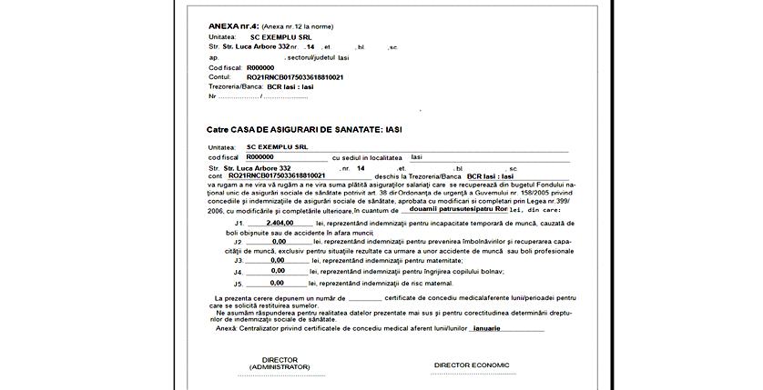 CERERE ANEXA 121