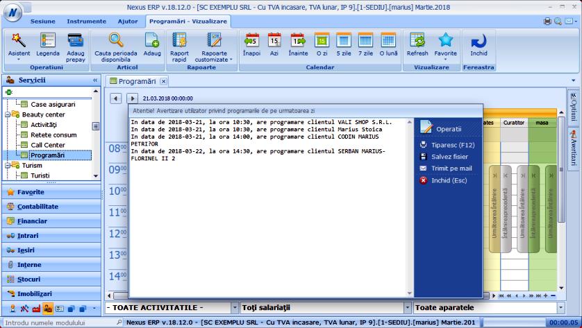Avertizare util prog zi Modul Programari 04