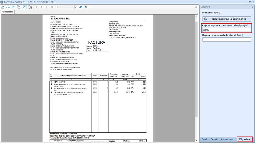 Tiparire rapoarte fata verso imprimanta duplex 03