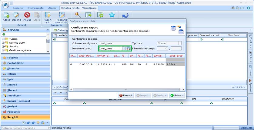 import catret pret pres01
