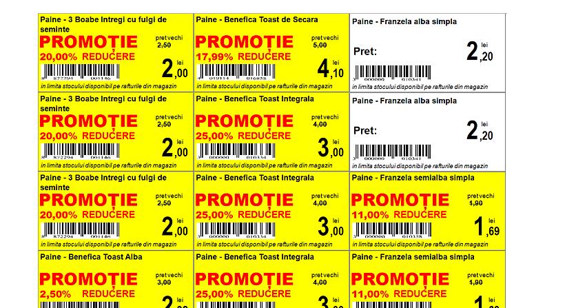 etichete produse procent discount 3
