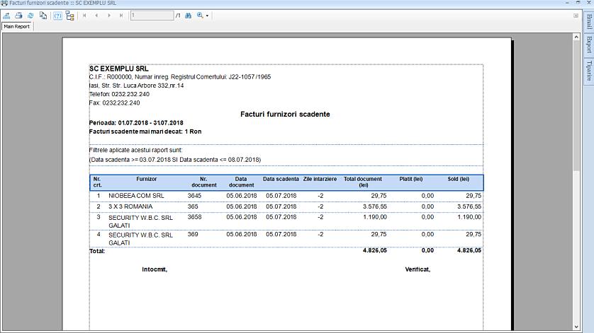 Filtrare rapoarte complexa dupa data 03