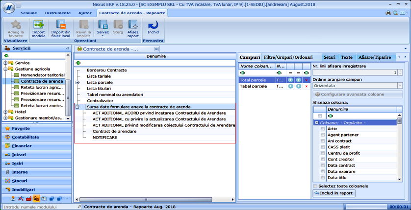 contracte arenda rapoarte html