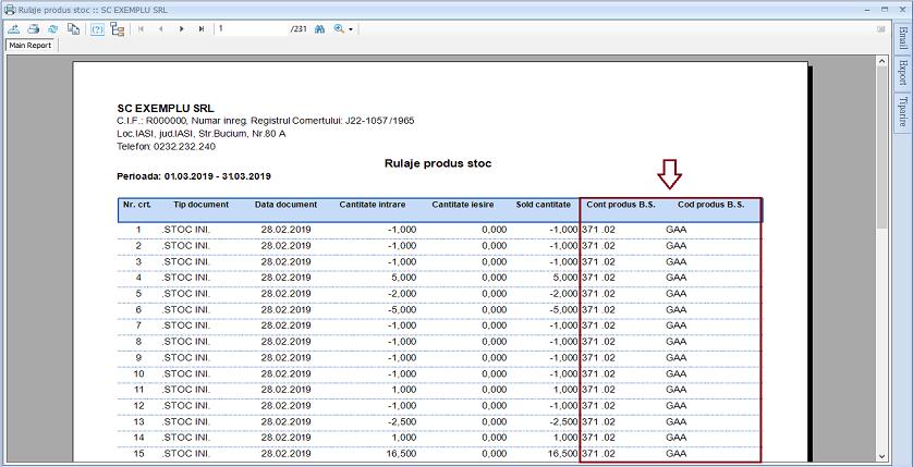 Centralizare stocuri Adaugare camp raport 02