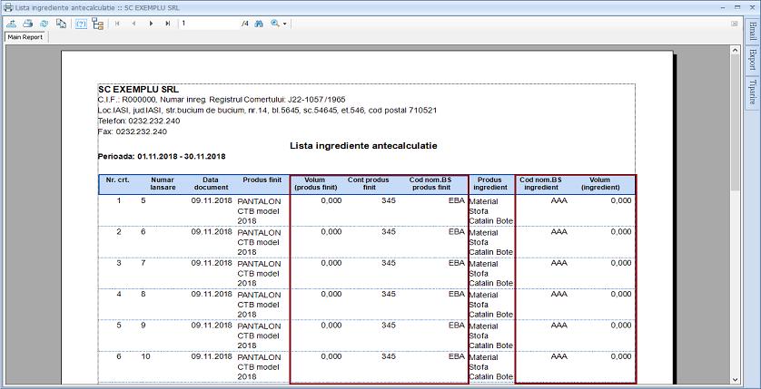 Lansare in productie Adaugare campuri raport 03