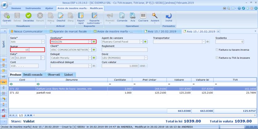 Optiune verificare numar document pe gestiune 03