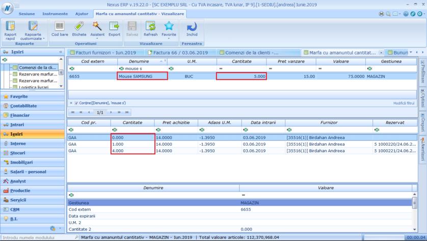 Setare verificare stoc produs comanda client 02