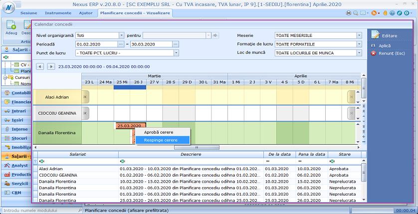 Planificare concedii cursuri2 calendar 06