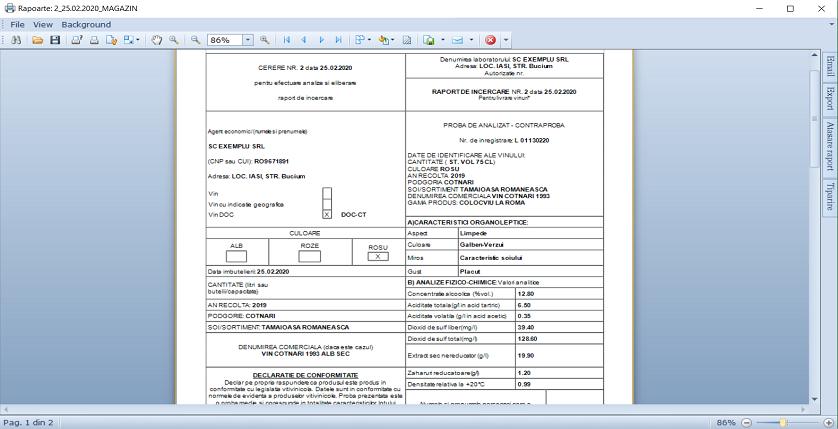Buletin de analize Adaugare modul 04