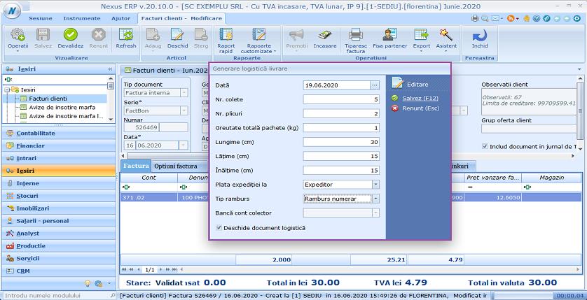 Facturi clienti generare logistica livrare 02