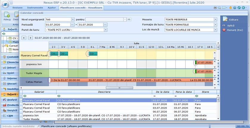 Planificare concedii status color 01