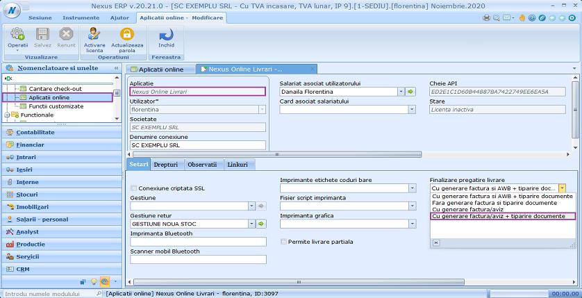 Aplicatii online generare aviz factura cu tiparire doc 01