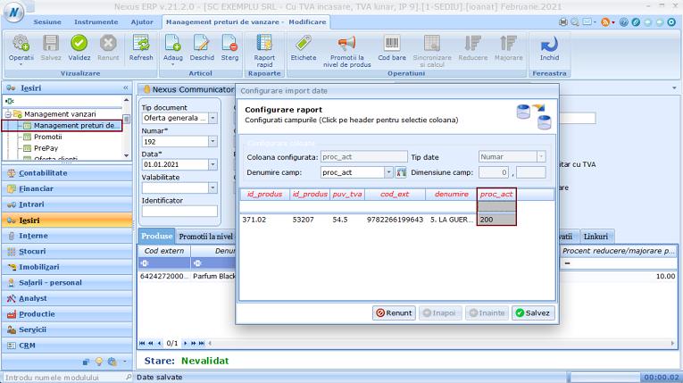 Management preturi de vanzare Modificari liste derivate 02