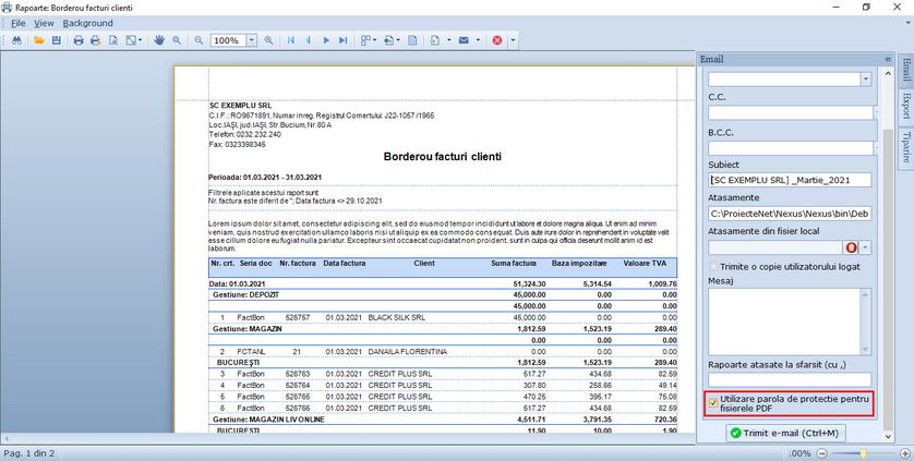 Parola pentru rapoartele PDF atasate 02