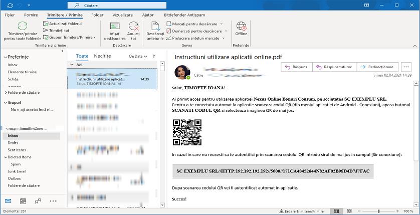 Aplicatii online Trimitere mail instructiuni 03